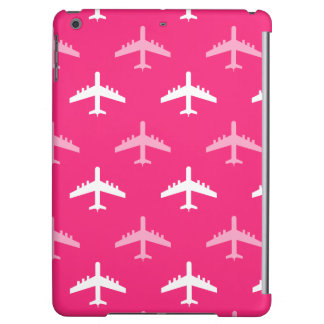 Hot Pink and White Airplanes iPad Air Covers