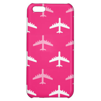 Hot Pink and White Airplanes iPhone 5C Cover