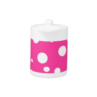 Hot Pink and White Bubbles Polka Dots Fun
