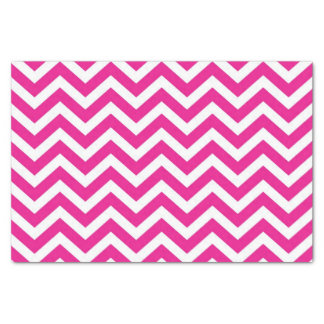 """Hot Pink and White Chevron Pattern 10"""" X 15"""" Tissue Paper"""
