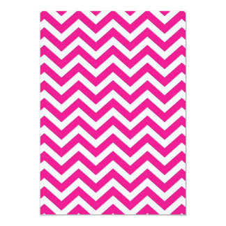Hot Pink and White Chevron Pattern Card