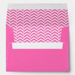 Hot Pink and White Chevron Pattern Envelope