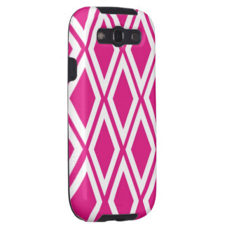 Hot Pink and White Diamonds Galaxy SIII Cover
