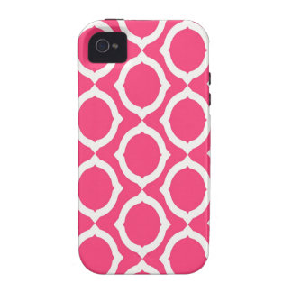 Hot Pink and White Pattern Gifts Case-Mate iPhone 4 Covers