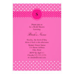 Hot Pink and White Polka Dot Bridal Shower Personalized Announcement