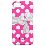Hot Pink and White Polka Dot iPhone 5 Case