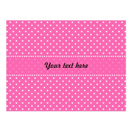 Hot pink and white polka dot pattern postcard zazzle for Red and white polka dot pattern