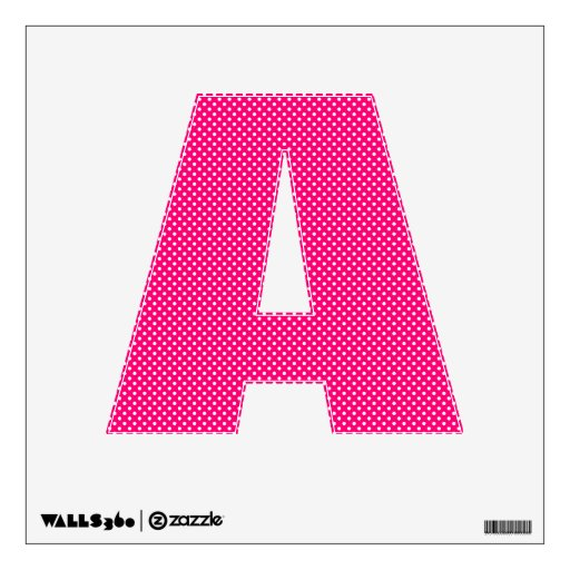 Hot pink and white polka dot pattern room sticker zazzle for Red and white polka dot pattern