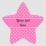 Hot Pink and White Polka Dot Pattern Stickers