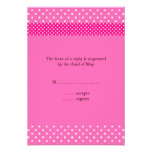 Hot Pink and White Polka Dot RSVP Personalized Invitations