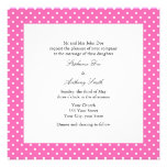 Hot Pink and White Polka Dot Wedding Personalized Announcement