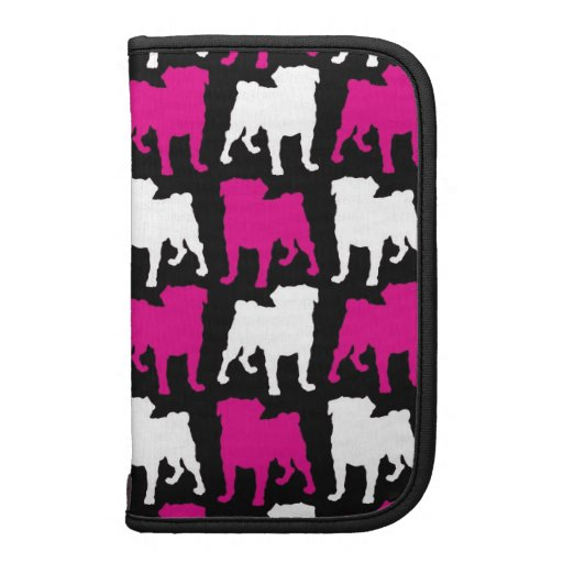 Hot Pink and White Pugs Planners