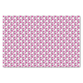 Hot Pink and White Soccer Ball Tissue Paper