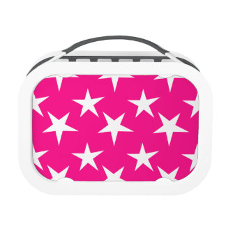 Hot Pink and White Stars Lunchbox