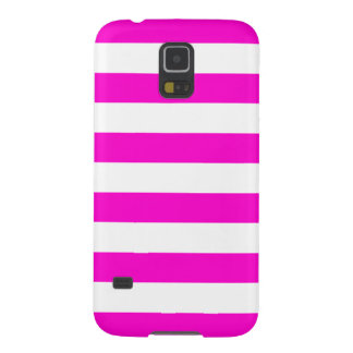 Hot Pink and White Stripes Girly Galaxy S5 Case