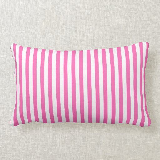 Hot Pink and White Stripes Throw Pillow Zazzle