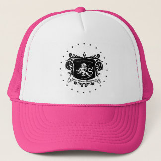 Hot Pink and White trucker hat with SCR logo
