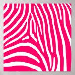 Hot Pink and White Zebra Print