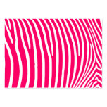 Hot Pink and White Zebra Print Large Business Cards (Pack Of 100)