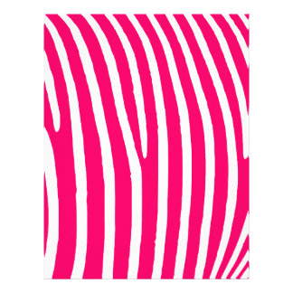 Hot Pink and White Zebra Print Letterhead