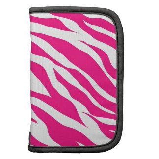 Hot Pink and White Zebra Stripes Wild Animal Print Folio Planner