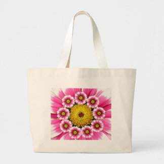 Hot Pink and Yellow Daisy Flowers Tote Bag