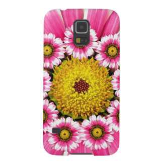 Hot Pink and Yellow Daisy Flowers Galaxy S5 Case