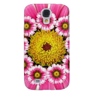 Hot Pink and Yellow Daisy Flowers Galaxy S4 Case