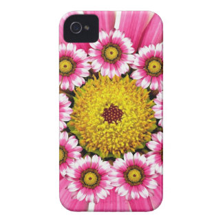 Hot Pink and Yellow Daisy Flowers iPhone 4 Case