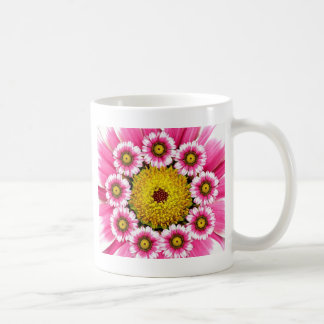 Hot Pink and Yellow Daisy Flowers Coffee Mugs