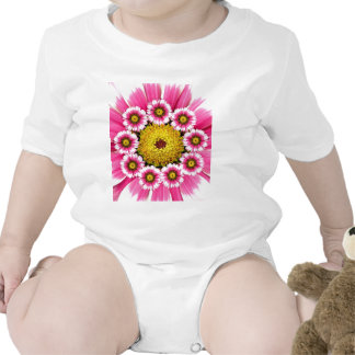 Hot Pink and Yellow Daisy Flowers T-shirts