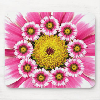 Hot Pink and Yellow Flowers Mousepad
