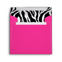 Hot Pink and Zebra Stripes Envelope