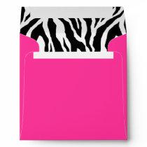 Hot Pink and Zebra Stripes Envelope