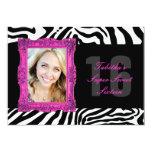 Hot Pink and Zebra | Sweet Sixteen Invitation