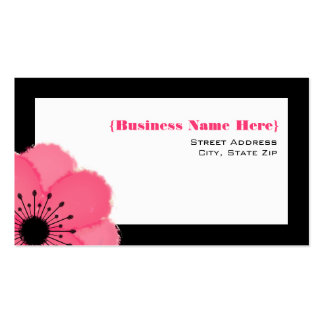 Hot Pink Anemone All Purpose Business Card