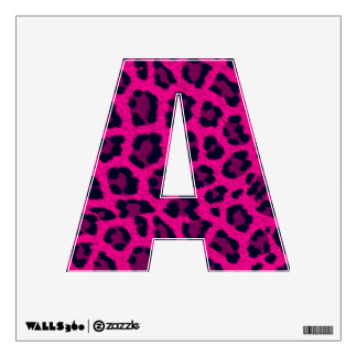 Hot Pink Animal Leopard Print 12X12 Letter A Wall Decor