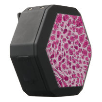 Hot Pink Animal Print Abstract Black Bluetooth Speaker