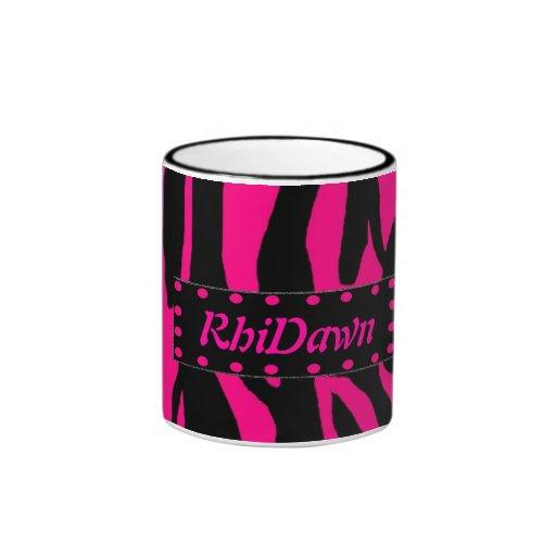 Hot Pink Animal Print coffee mug