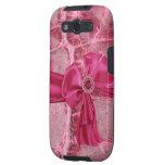 Hot Pink Animal Skin Print Bow Samsung Galaxy Case Galaxy SIII Covers
