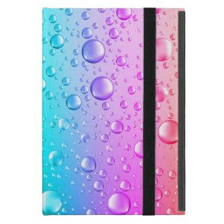 Hot Pink & Aqua Blue Gradient Water Droplets iPad Mini Cover