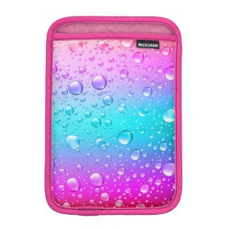Hot Pink & Aqua Blue Gradient Water Droplets Sleeve For iPad Mini