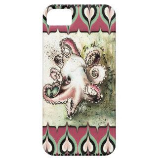 Hot Pink & Aqua Octopus Love  'Ivy' iPhone Case iPhone 5 Case