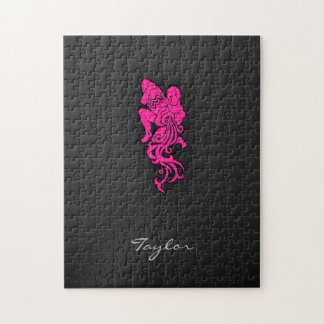 Hot Pink Aquarius Jigsaw Puzzle