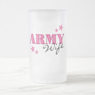 Hot Pink Army Wife Frosted Mug