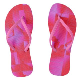 Hot Pink Art Deco Flip Flops