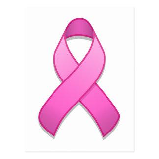 Hot Pink Awareness Ribbon Postcard