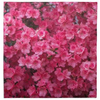 Hot Pink Azalea Blossoms Napkin