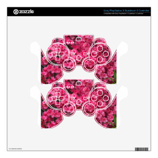Hot Pink Azalea Blossoms Skin For PS3 Controller