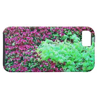 Hot Pink Azaleas and Japanese Maple Monet's Garden iPhone SE/5/5s Case